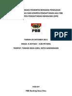Kertas Cadangan Pemimpin Bersama Penduduk Taman Desa Ilmu Dan Kempen ran Ahli Pbb Serta Kempen ran Mengundi