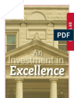 An Investment of Excellence