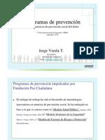 Programas de Prevencion Buenas Practicas (Paz Ciudadana