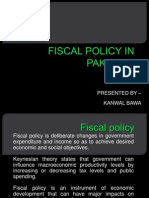 Fiscal Policy in Pakistan