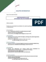 Boletín Informativo ACP - Setiembre 2011