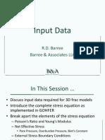 C3 - Frac Model Input Data