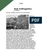 1908 British Suffragettes
