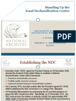 National Declassification Center- Sheryl J. Shenberger