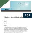 Windows Azure Marketplace Whitepaper