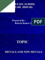 Metals and Non Metals Attari Ropar