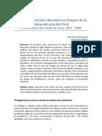 Historia y currículo educativo en tiempos de la independencia del Perú 1815-1840