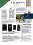 Lead Butt Newsletter September 2007