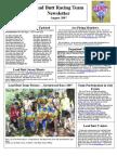 Lead Butt Newsletter August 2007