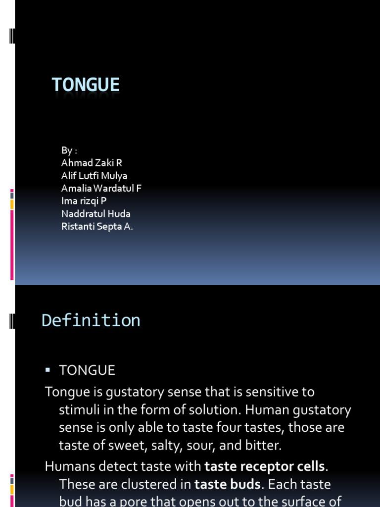 Tongue Taste Neurobiology
