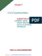 Cyclic Quardilateral