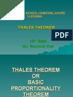 Thaless Theorem
