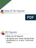 Area of 3D Figures