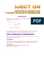 Types Properties of Quadrilaterals