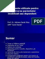 C5-Echipamente Utilizate in Manevrarea Pacientului