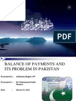 Balance of Payments of Pakistan (Presentation)