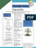The Grade Four Gazette Dr