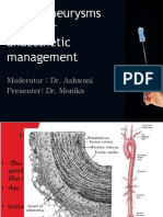Aortic Aneurysms and Their Anaesthetic Management