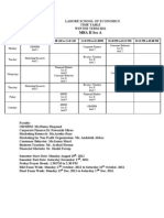 Revised MBA II Time Table-Winter 2011