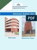 Admission Bulletin 2012