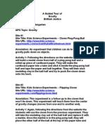 Gravity Webliography 2-9-06