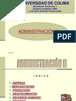 ADMINISTRACIÓN II ( EMPRESA)