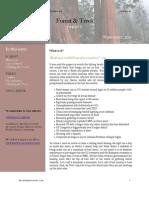 September 2011 Forest & Trees Report