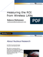 Measuring the ROI From Wireless LANs