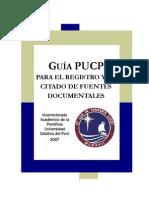 Guía PUCP para el registro y el citado de fuentes documentales
