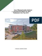 UMass-Amherst 2010 Security Report