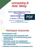 CSDC Summarizing and Note Taking