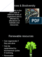 Resources & Biodiversity