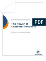 A Paper by Hoot Ratings - The Power of Customer Feedback