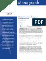 Effective Community Arts Development - 50 Years, 50 Tips
