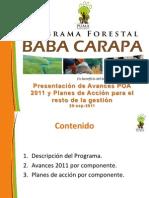 Avances POA 2011 Pando 2011