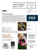 March 2009 Horticultural Therapy Society of New South Wales Newsletter