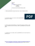 Prueba Nº1 de Matemática - Probabilidades Ejercicios Sencillos