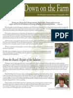 Fall 2011 Homeless Garden Project Newsletter
