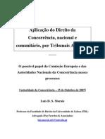 Aplicação do Direito da Concorrência, nacional e comunitário, por Tribunais Arbitrais