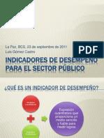 Indicadores de desempeño para el sector público