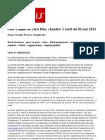 CA Paris 3 Mai 2011 Snep Google