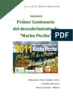 Machu Picchu 100 Años cerca de nosotros