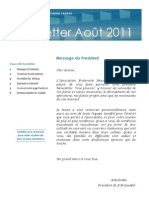 Newsletter Aout 2011-2