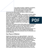 Market, Its Types, Key Players & Related Instruments