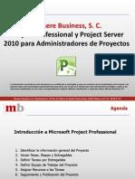 Project Professional y Project Server 2010 Para Administradores de Proyectos
