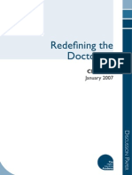 Redefining the Doctorate 2007