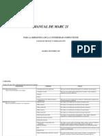 Manual Formato MARC21