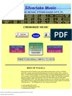 Cherokee Music CDs and DVDs