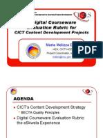 Digital Course Ware Evaluation Rubric - Tan
