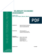 2011 Preliminary Economic Assessment (43-101)